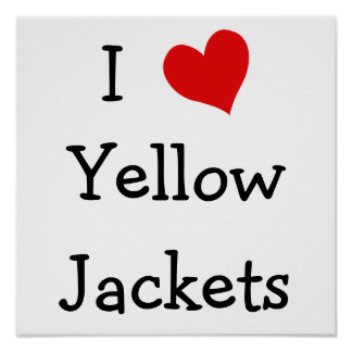 I Love Yellow Jackets Poster