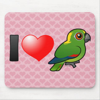 I Love Yellow-naped Amazons Mouse Pads