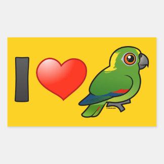 I Love Yellow-naped Amazons Stickers