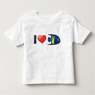 I Love Yellowbar Angelfish Shirt