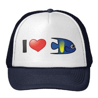 I Love Yellowbar Angelfish Trucker Hat