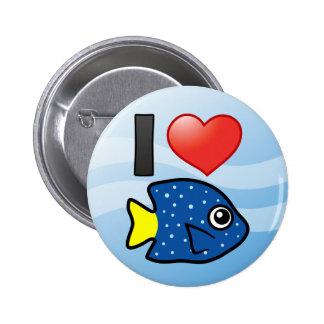 I Love Yellowtail Damselfish Pins