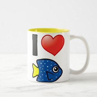 I Love Yellowtail Damselfish Mugs
