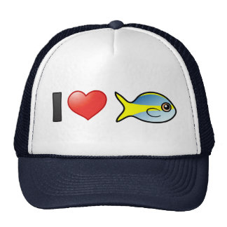 I Love Yellowtail Snapper Hat