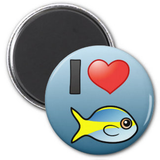 I Love Yellowtail Snapper Magnet