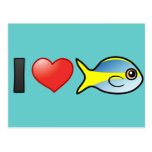 I Love Yellowtail Snapper Postcards