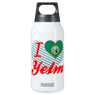I Love Yelm, Washington 10 Oz Insulated SIGG Thermos Water Bottle