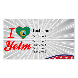 I Love Yelm, Washington Double-Sided Standard Business Cards (Pack Of 100)