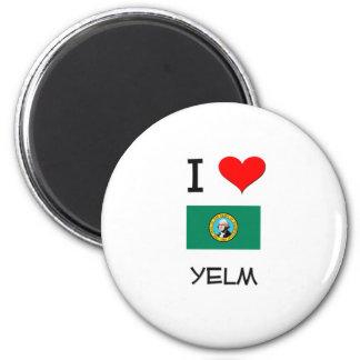 I Love Yelm Washington Magnets