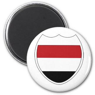 I Love Yemen 2 Inch Round Magnet