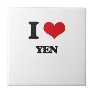 I love Yen Small Square Tile
