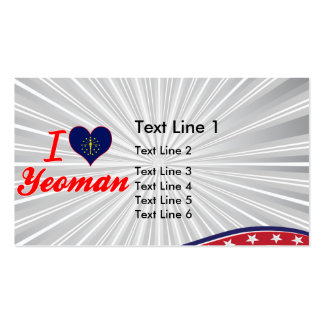 I Love Yeoman, Indiana Business Card Template