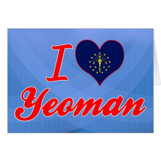 I Love Yeoman Indiana Card