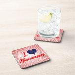 I Love Yeoman, Indiana Drink Coaster
