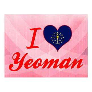 I Love Yeoman Indiana Post Cards