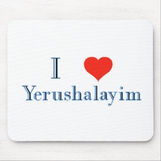 I Love Yerushalayim Mouse Pad