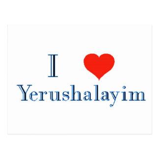 I Love Yerushalayim Postcard
