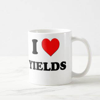 I love Yields Classic White Coffee Mug