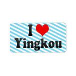 I love Yink Personalized Address Label