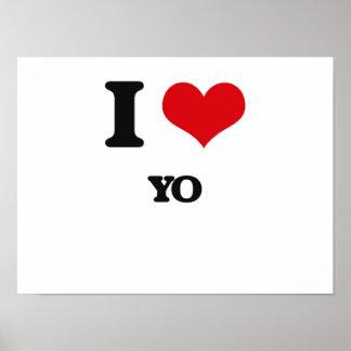 I Love YO Posters