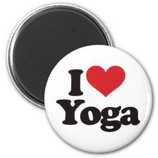 I Love Yoga 2 Inch Round Magnet