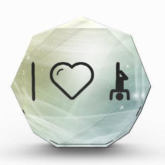 I Love Yoga Acrylic Award