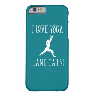 I love Yoga and Cats Dark Background iPhone Case