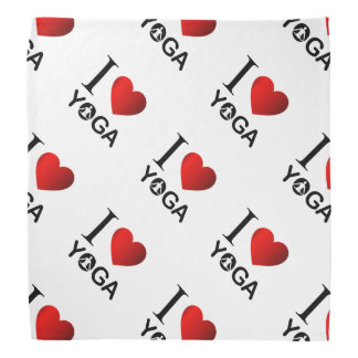 I love yoga bandana