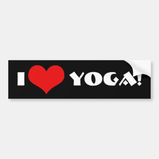 I Love Yoga! Bumper Sticker