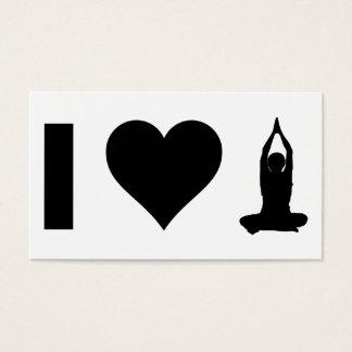 I Love Yoga Business Card