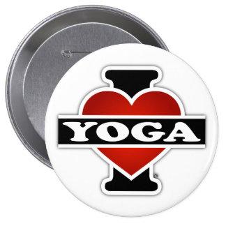 I Love Yoga 4 Inch Round Button