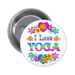 I Love Yoga Buttons