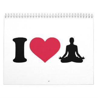 I love Yoga Calendar