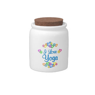 I Love Yoga Candy Jars