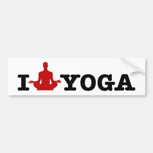 I Love Yoga Car Bumper Sticker