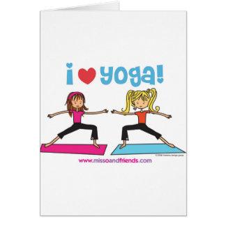 i love yoga card