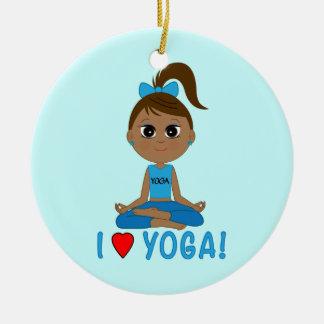 I Love Yoga! Ceramic Ornament