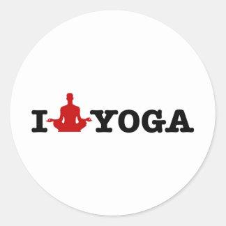 I Love Yoga Classic Round Sticker