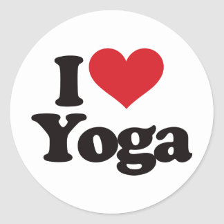 I Love Yoga Classic Round Sticker