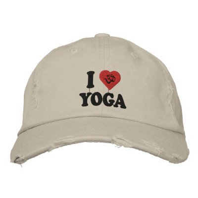 I Love Yoga Embroidered Cap