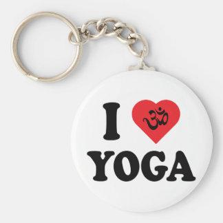 I Love Yoga Gift Basic Round Button Keychain