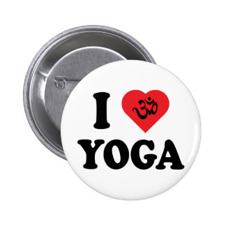 I Love Yoga Gift Button
