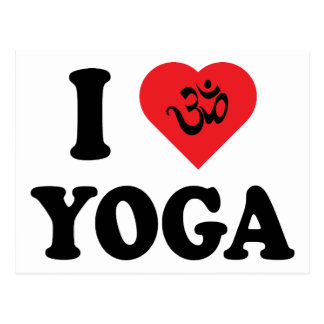 I Love Yoga Gift Postcard