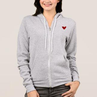 i love yoga heart hoodie