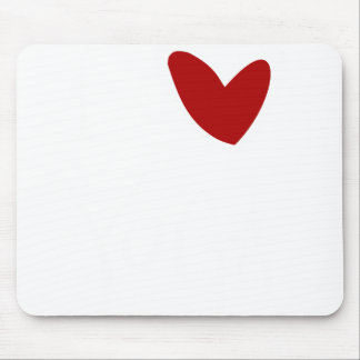 i love yoga heart mouse pad
