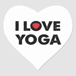 I love yoga heart sticker