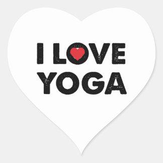I love yoga heart sticker