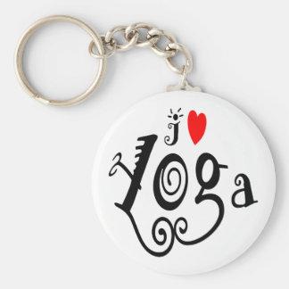 I Love Yoga Key Chain