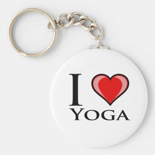 I Love Yoga Keychains