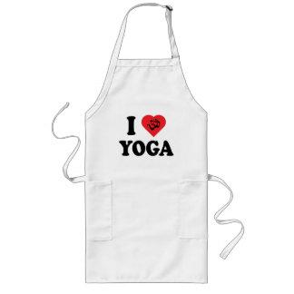 I Love Yoga Long Apron